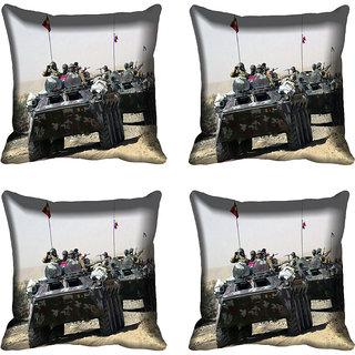 meSleep Battle Tank Digital printed Cushion Cover (16x16)