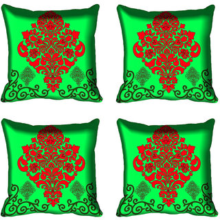 meSleep Ethnic Digital Printed Cushion Cover (16x16)
