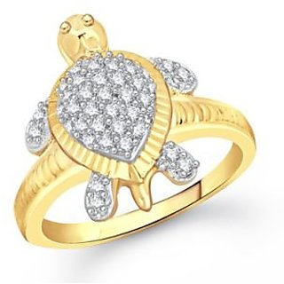 VK Jewels Wonderful Tortoise Gold and Rhodium Plated Ring