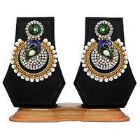 Zaveri Pearls Mor Masti Dangale Dangle&Drop Earrings