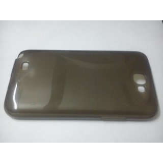 Silicon Back cover for Samsung Galaxy Note II N7100 Black Transparent