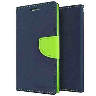 ClickAway Mercury Dairy Wallet Flip Flap Cover Case for Samsung Galaxy Grand 2 G7106 Blue