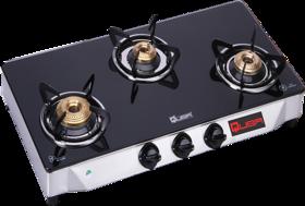 Quba 3 Burner Gas Stove Automatic