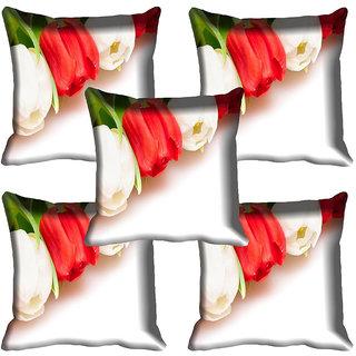 meSleep Flower Digital printed Cushion Cover (16x16)