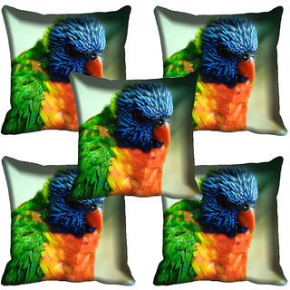 meSleep Parrot Digital printed Cushion Cover (16x16)