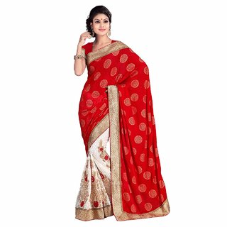 Kajal Sarees Multicolor Kanchipuram silk Embroidered Saree With Blouse