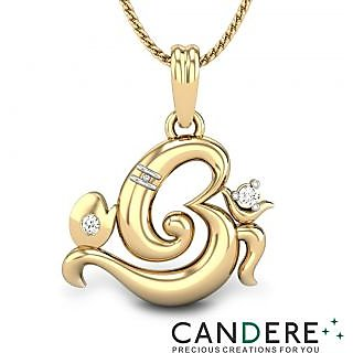 Buy candere diamond pendant in 18k yellow gold design 48 online candere om ganesh pendant in 18k yellow gold 01 ct diamond design 48 mozeypictures Gallery