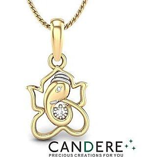 Candere Diamond Pendant In 18K Yellow Gold (Design 18)