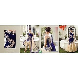 Crazy Fashion Glamorous Royal Blue Salwar Kameez
