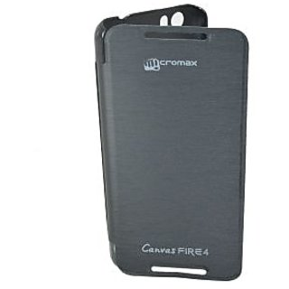 ClickAway Hard Back Flip Cover For Micromax Canvas Fire 4 A107