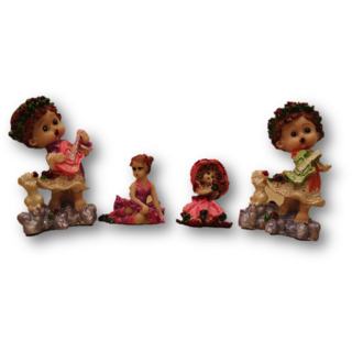 Singing Doll Family Candle