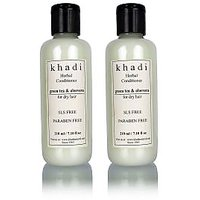 Khadi Natural Herbal Green Tea  Aloevera Hair Conditioner- Sls  Paraben Free