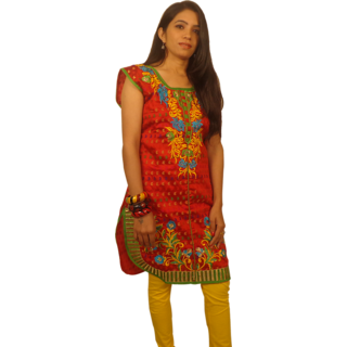 SVT Lifestyle Designer Red Kurti For Party wear