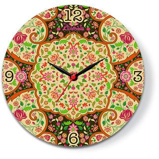 Mughal Dark Glass Clock