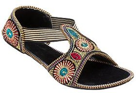 Forever Footwear Women's Multicolor Ethnic Flats