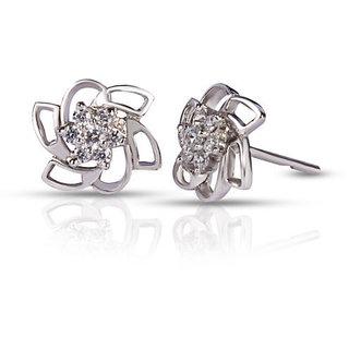 Designer Party wear Jewellery Sterling Silver EarringVJE0035 b a