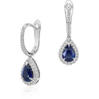 Designer Party wear Jewellery Sterling Silver EarringVJE0050 g c