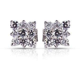 Designer Party wear Jewellery Sterling Silver EarringVJE0021 b d