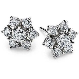 Designer Party wear Jewellery Sterling Silver EarringVJE0019 b f
