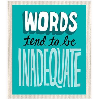 Mesleep Words Inadequate Cotton Canvas