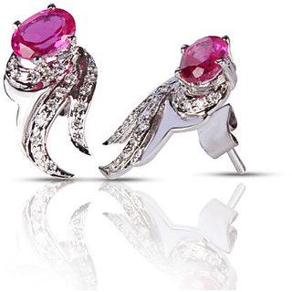Designer Party wear Jewellery Sterling Silver EarringVJE0048 g b