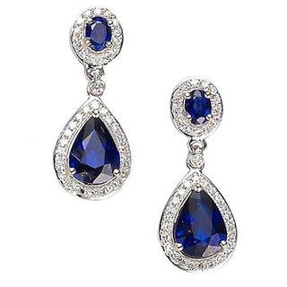 Designer Party wear Jewellery Sterling Silver EarringVJE0008 a b