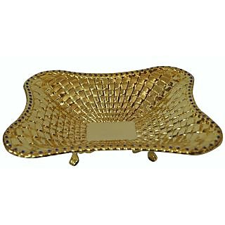 Gold Small Plate With Stand