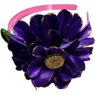 Apeksha Arts Upscale Blue Floral Hair Band