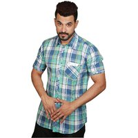 Factorydirect Mens Multicolor Regular Fit Casual Shirt