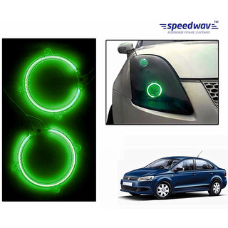 Car Halo CCFL Tube Angel Eyes Light GREEN-Volkswagen Vento