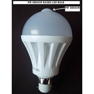 PIR SENSOR BASED LED Bulb 5w Ac 220v - Human Motion Occupancy Sensor