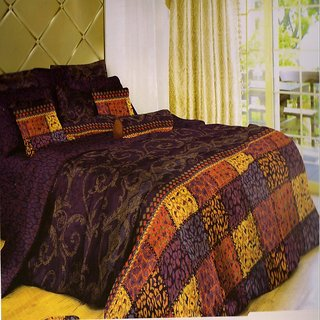 Welhouse India  Polycotton Geomatric Design 4Pcs Bedding Set