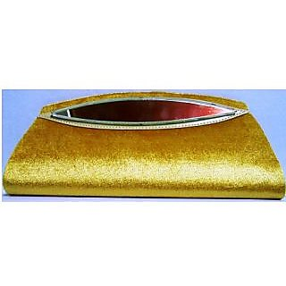 Modern Trendy Golden Velvet clutch with mirror - limited edition