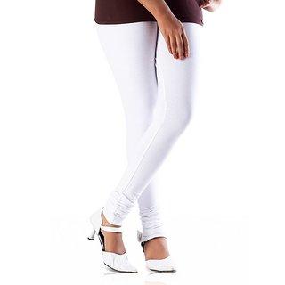 LOOKS-JULIET WHITE COTTON LYCRA LEGGINGS