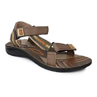 Columbus Men's Beige Velcro Sandals