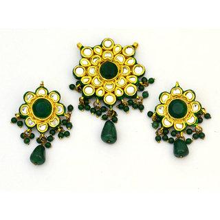Green Kundan Attire Set