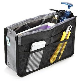 HOBlack,Multipurpose Handbag Organizer In Black Color