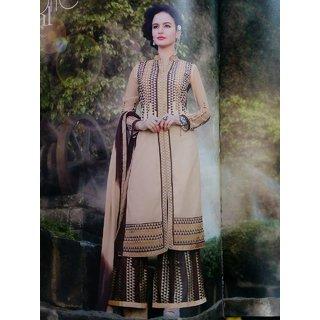 Light Brown/Cream Designer Palazzo Suit