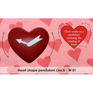 Pendulum Swing Heart Shaped Wall Clock - Perfect for Partner/Spouse