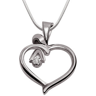 Surat Diamond Desire Love - Real Diamond & 925 Silver Pendant with 18