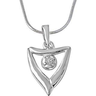 Surat Diamond Gift of Spring 925 Silver Real Diamond Pendant with 18