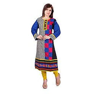 Nextar Blue Cotton Printed ...kurtis