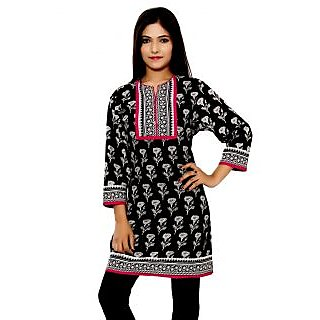 Buyclues Pure Cotton Hand Block Printed pretty Kurti Tunic Top
