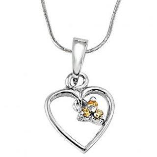 Surat Diamond Love Blooms - Real Diamond & 925 Silver Pendant with 18