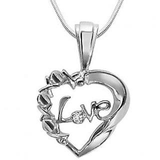 Surat Diamond Pure Love Magic - Real Diamond & 925 Silver Pendant with 18
