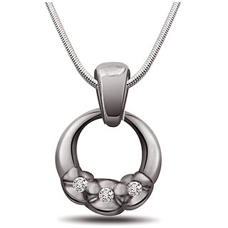 Surat Diamond Ocean Of Love - Real Diamond & 925 Silver Pendant with 18
