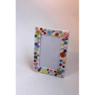 Handmade Button Photo Frame
