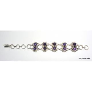 Shoppers Cave Exquisite Sterling Silver Bracelet Setted With Amethyst Stone