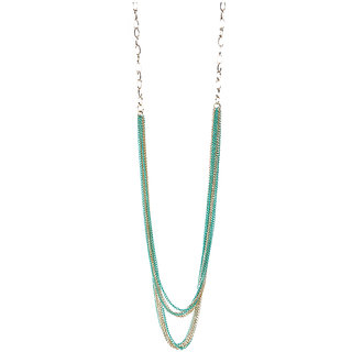 Trove Turquoise and Gold Delicate Necklace