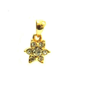 Estelle Alloy & Cubic Zirconia Golden Pendant Only (579ESPD)
